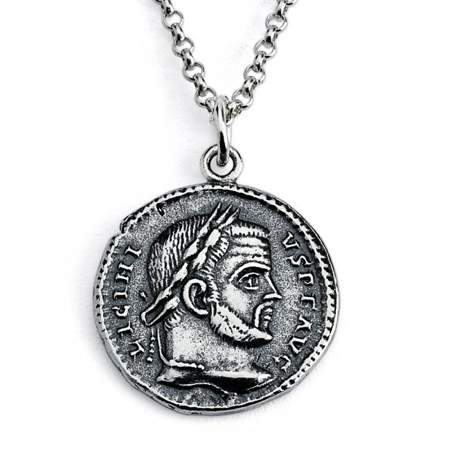 925 sterling silver necklace Replica Licinius I Roman Emperor Ancient COIN