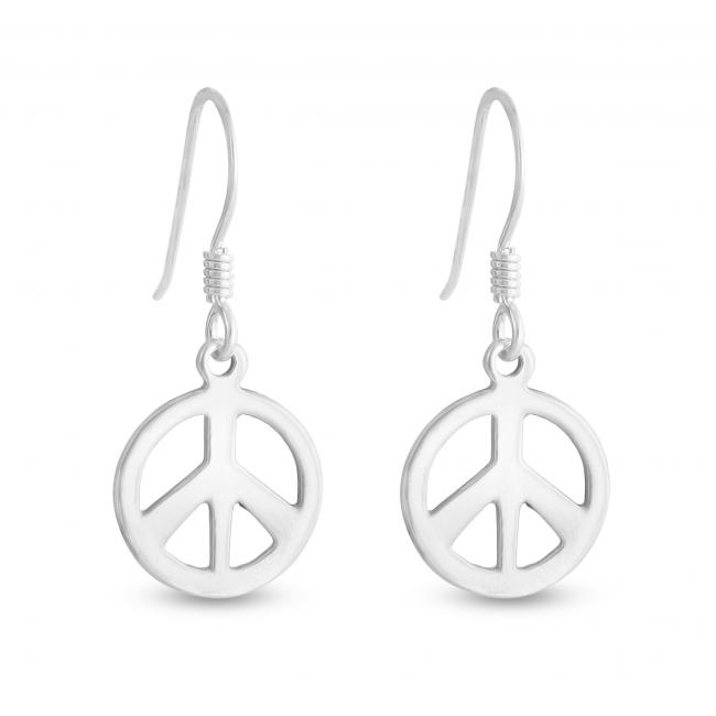 925 sterling silver earrings Peace Sign