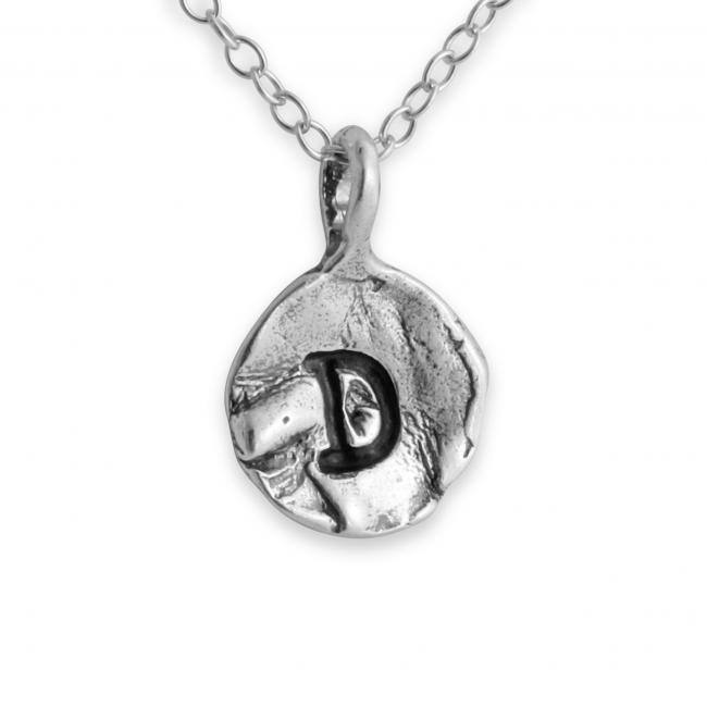 925 sterling silver necklace Letter D Passion Initial