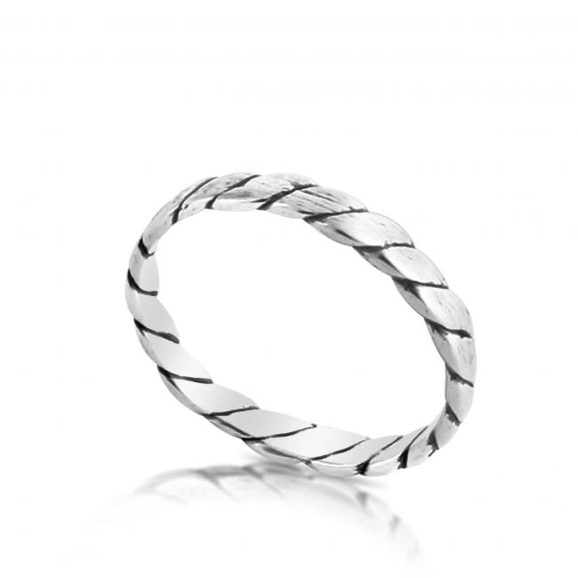 925 sterling silver ring Rope Ring
