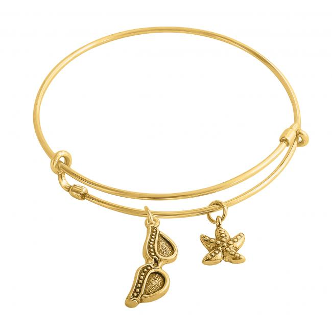 Gold plated bracelet Summer Mood Adjustable Wire Bangle